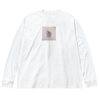 うまキリンモドキ Big silhouette long sleeve T-shirts