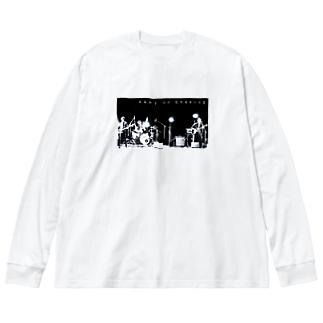 ゆれつづけるTシャツ Big silhouette long sleeve T-shirts