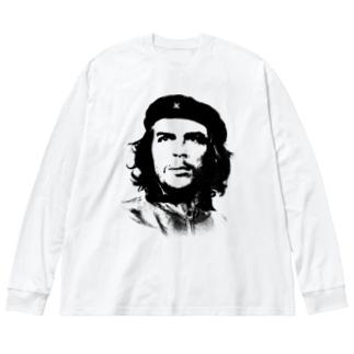 チェゲバラ Big silhouette long sleeve T-shirts