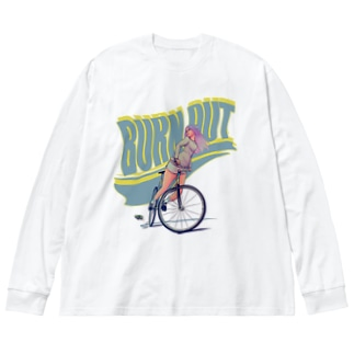 """""""BURN OUT"""" Big silhouette long sleeve T-shirts"""