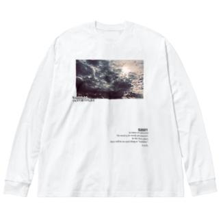 光雲 Big silhouette long sleeve T-shirts