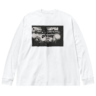 白熱 Big silhouette long sleeve T-shirts