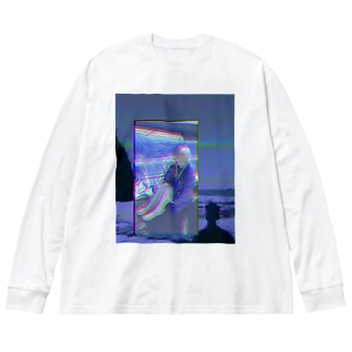 粗大ゴミちゃん Big silhouette long sleeve T-shirts