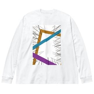 焦燥感 Big silhouette long sleeve T-shirts