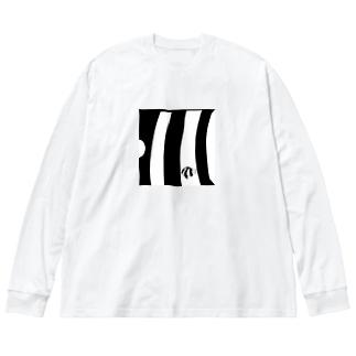 ミスジリュウキュウスズメダイ Big silhouette long sleeve T-shirts