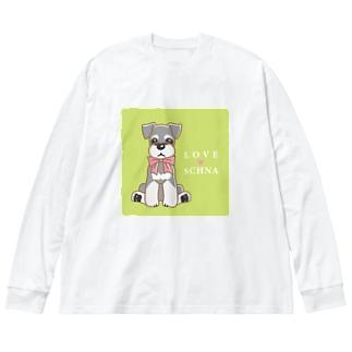 LOVESCHNA-らぶしゅな- Big silhouette long sleeve T-shirts
