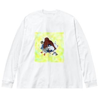 まどろみヒナーズ Big silhouette long sleeve T-shirts