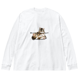 猫の訴えVOL.1 Big silhouette long sleeve T-shirts