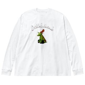 Stuffed Animals_Deer Big silhouette long sleeve T-shirts