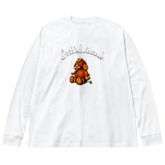 Stuffed Animals_Elephant Big silhouette long sleeve T-shirts