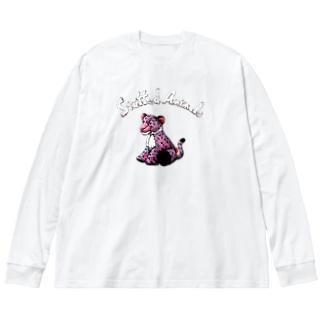Stuffed Animals_Leopard Big silhouette long sleeve T-shirts