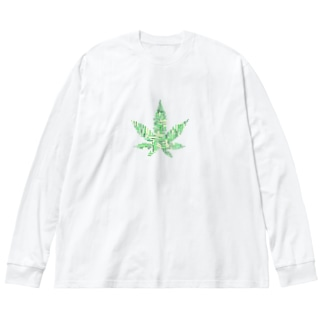 WEED Big silhouette long sleeve T-shirts