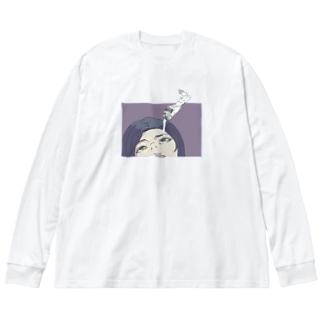 EYE CREAM Big silhouette long sleeve T-shirts