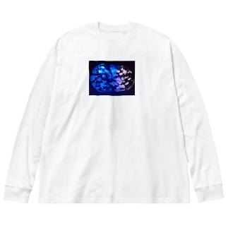 水族館withクラゲ Big silhouette long sleeve T-shirts