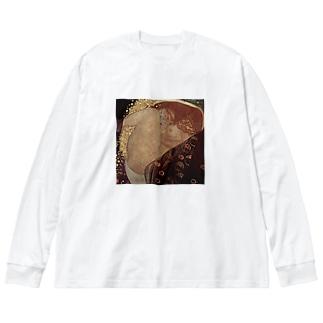 グスタフ・クリムト(Gustav Klimt) / 『ダナエ』(1907年 - 1908年) Big silhouette long sleeve T-shirts