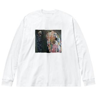 グスタフ・クリムト(Gustav Klimt) / 『死と生』(1915年) Big silhouette long sleeve T-shirts