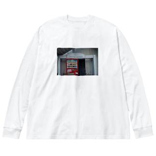 drink corner Big silhouette long sleeve T-shirts