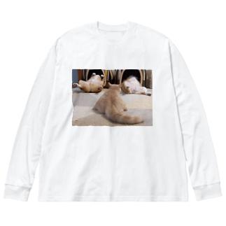 ヘソ天占い Big Silhouette Long Sleeve T-Shirt