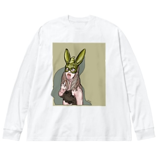 渦巻トルネード Big silhouette long sleeve T-shirts