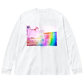wonderland Big silhouette long sleeve T-shirts