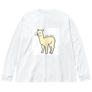 一理アルパカさん Big Silhouette Long Sleeve T-Shirt