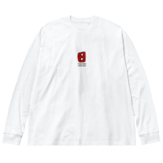 HELPマーク Big silhouette long sleeve T-shirts