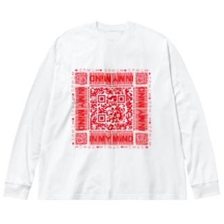 Code QR+39 Series Big silhouette long sleeve T-shirts