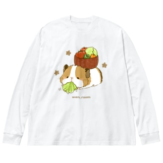 試食もバッチリ! Big silhouette long sleeve T-shirts