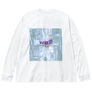 えきせんとりしてぃ-正方形(文字小さめ) Big silhouette long sleeve T-shirts