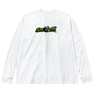 """ENGINE"" Big Silhouette Long Sleeve T-Shirt"