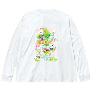 抹茶パフェ Big Silhouette Long Sleeve T-Shirt