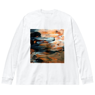 Ns Big silhouette long sleeve T-shirts