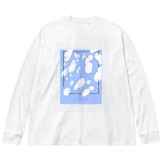 炭酸飲料 Big silhouette long sleeve T-shirts