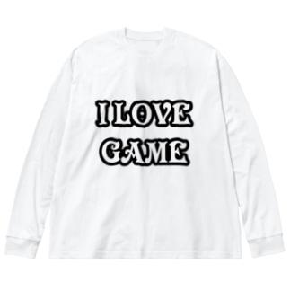 ゲーム好きです Big silhouette long sleeve T-shirts