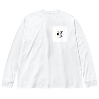 ミッキー&ミニー Big silhouette long sleeve T-shirts