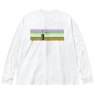 WTB目視点検用メモリと重り  Big silhouette long sleeve T-shirts