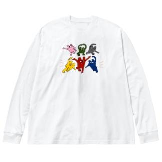 くまどんズロンT Big silhouette long sleeve T-shirts