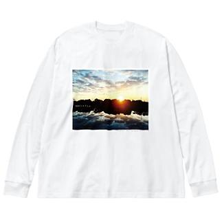 「地獄の上も下も春」celar ver. Big silhouette long sleeve T-shirts