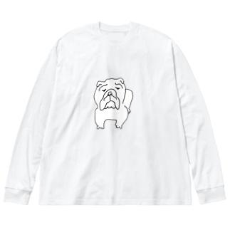 ブルドッグ Big silhouette long sleeve T-shirts