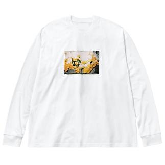 早春マリーゴールド Big silhouette long sleeve T-shirts