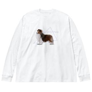 ショードック シェルティ Big silhouette long sleeve T-shirts