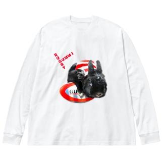 らぐみー Big silhouette long sleeve T-shirts