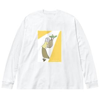 マダガスカル、行きたい根② Big silhouette long sleeve T-shirts