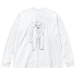 r line@ Big silhouette long sleeve T-shirts