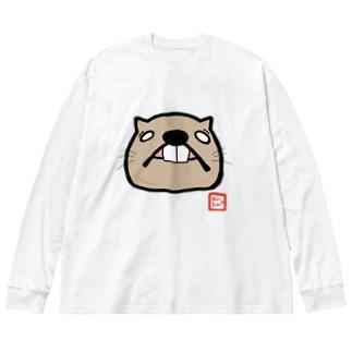 でっぱおいたん BIGシルエットロングTシャツ Big silhouette long sleeve T-shirts