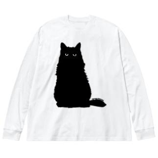 クロネコこぶお2021 Big silhouette long sleeve T-shirts
