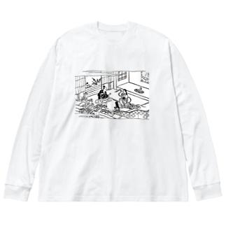 蛇性の淫 Big silhouette long sleeve T-shirts