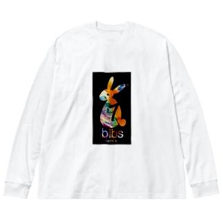 bibs familiar_着るもの Big silhouette long sleeve T-shirts