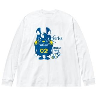 CT124 モコモコラビット2号*ggrks Big silhouette long sleeve T-shirts