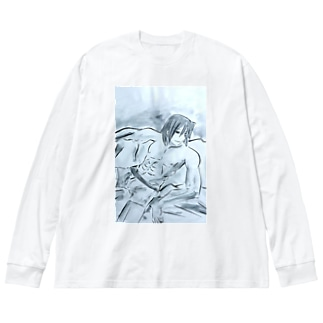 アース Big silhouette long sleeve T-shirts